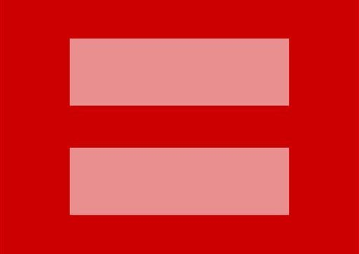 Red and pink flag gay marriage