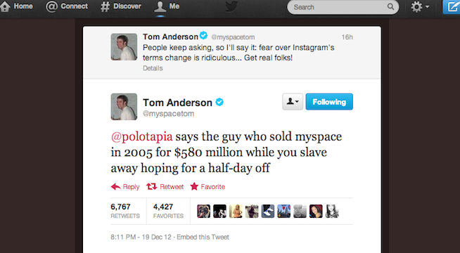 MySpace Tom Back In Headlines After Twitter Scuffle Talking - After selling myspace for 580 million heres what its founder is doing now