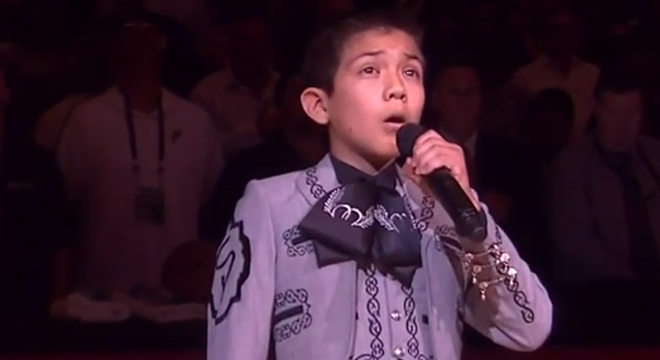 Mexican-American Boy Who Sang National Anthem At NBA Finals Taunted By Racist Tweets – Talking ...
