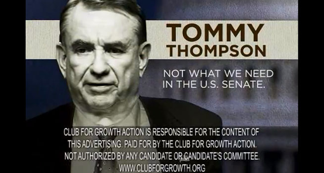 Club For Growth Ad Slams Tommy Thompson In Wis. Senate ...