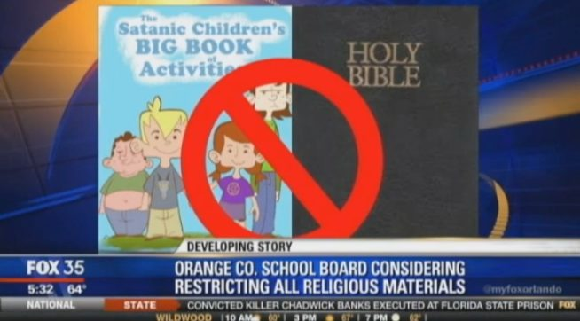 fl schools allow bibles so satanic temple hands out coloring books - Satanic Coloring Book