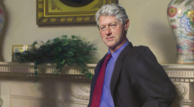 Painter My Smithsonian Portrait Of Bill Clinton Has A