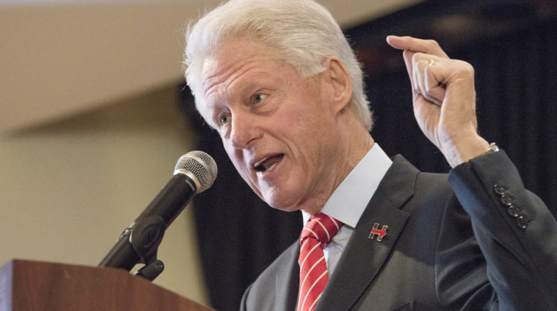 Clinton defends his response to Lewinsky scandal