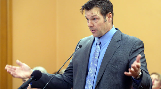 Kobach follows disbanding of Trump voter commission with charges against two voters