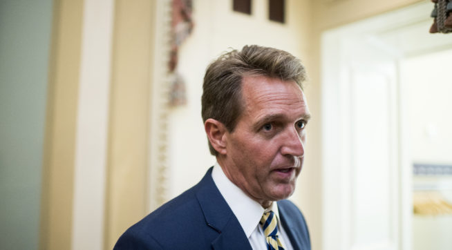 photo image Report: White House Has Met With Potential Flake Primary Challengers