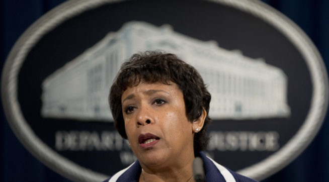Attorney General Loretta Lynch speaks about recent shootings, Friday, July 8, 2016, at the Justice Department Washington. Gunmen shot and killed five police officers and wounded others in Dallas during a protest over fatal police shootings of black men in other states, authorities said. It appeared to be the deadliest day for U.S. law enforcement since the 2001 terrorist attacks. (AP Photo/Carolyn Kaster)