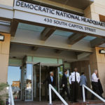 Two 'sophisticated adversaries' linked to the Russian government broke in to the Democratic National Committee's computer networks and gained access to confidential emails, chats and opposition research on presumptive Republican nominee Donald Trump, Tuesday, June 14, 2016, in Washington. The DNC said financial and personal information does not appear to have been accessed by the hackers. (AP Photo/Paul Holston)