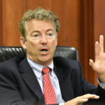 Senator Rand Paul, R-Ky., speaks to the board of the Kentucky Farm Bureau during the candidates forum at the Kentucky Farm Bureau headquarters, Thursday, Aug. 25, 2016 in Louisville Ky. (AP Photo/Timothy D. Easley)