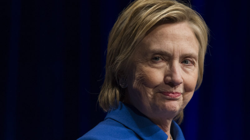 Democrat Presidential candidate Hillary Clinton addresses the Children's Defense Fund's Beat the Odds celebration at the Newseum in Washington, Wednesday, Nov. 16, 2016. (AP Photo/Cliff Owen)