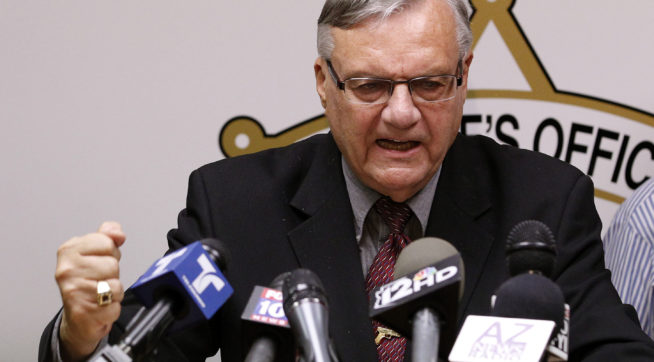 Trump Says May Pardon Arizona Ex-Sheriff Arpaio