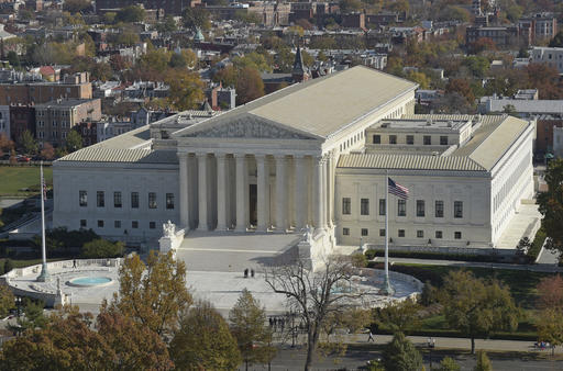 A view of the Supreme Court from the dome on Capitol Hill in Washington, Tuesday, Nov. 15, 2016.  (AP Photo/Susan Walsh)