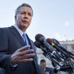 HOLD FOR SUNDAY, JAN. 15 – FILE – In this Nov. 10, 2016, file photo, Ohio Gov. John Kasich, following a ceremony where President Barack Obama honored the 2016 NBA champion Cleveland Cavaliers basketball team, answers questions from reporters outside the West Wing of the White House in Washington. In the weeks before President-elect Donald Trump's Jan. 20, 2017, inauguration, Kasich has emerged from a period of retreat after conceding his presidential ambitions for a second time. (AP Photo/Pablo Martinez Monsivais, File)