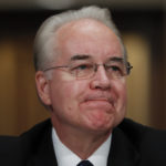 Secretary of Health and Human Services-designate, Rep. Tom Price, R-Ga., pauses on Capitol Hill in Washington, Wednesday, Jan. 18, 2017, at his confirmation hearing before the Senate Health, Education, Labor and Pensions Committee. (AP Photo/Carolyn Kaster)