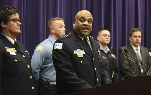 Chicago Police Superintendent Eddie Johnson speaks during a news conference Thursday, Jan. 5, 2017, on the hate crime and other charges filed against four individuals for an attack on a man that was captured on a Facebook video.