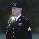 FILE - In this Jan. 12, 2016, file photo, Army Sgt. Bowe Bergdahl arrives for a pretrial hearing at Fort Bragg, N.C. The Army sought to have U.S. Sen. John McCain back away from statements about punishment for Bowe Bergdahl because of concerns about hurting the soldier's right to a fair trial, according to newly released emails. The emails were revealed in a motion filed Monday, Aug. 1, 2016, seeking the dismissal of charges against Bergdahl, who walked off his post in Afghanistan in 2009 and wound up in enemy captivity for five years. (AP Photo/Ted Richardson, File)