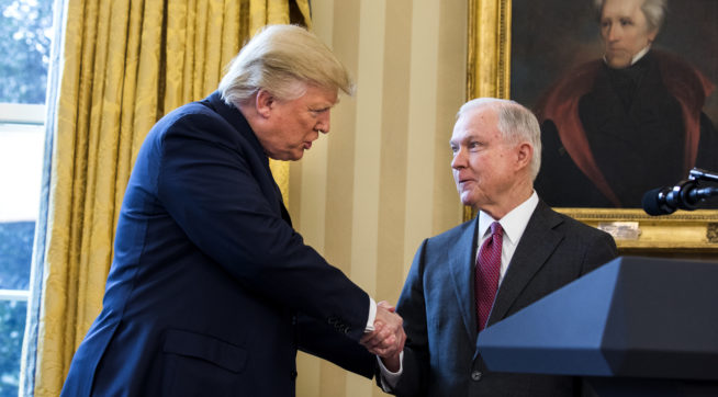 Trump had lawyer urge Sessions not to recuse self
