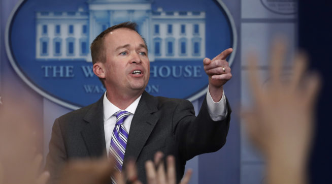 Mulvaney says would be OK to drop mandate repeal from tax plan