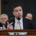 FBI Director James Comey testifies as the House Permanent Select Committee on Intelligence holds its first public hearing on allegations of Russian interference in the 2016 U.S. presidential election and the murky web of contacts between President Donald Trump's campaign and Russia, on Capitol Hill in Washington, Monday, March 20, 2017. (AP Photo/J. Scott Applewhite)
