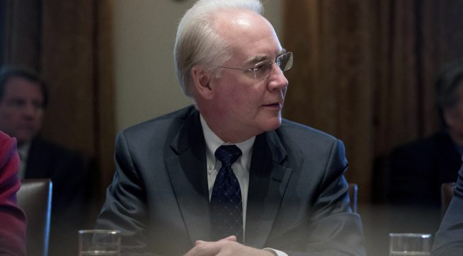HHS Tom Price chartered government-funded jets to places he owns property
