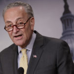 Senate Democratic Leader Chuck Schumer of New York speaks to reporters on Capitol Hill about news reports of Attorney General Jeff Sessions' contact with Russia's ambassador to the United States during the presidential campaign, on Capitol Hill in Washington, Thursday, March 2, 2017. The revelation is spurring growing calls in Congress in both parties for him to recuse himself from an investigation into Russian interference in the U.S. election.  (AP Photo/J. Scott Applewhite)