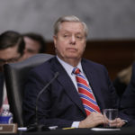 Sen. Lindsey Graham, R-S.C., listens during deliberation by members of the Senate Judiciary Committee on the nomination of President Donald Trump's Supreme Court nominee Neil Gorsuch to fill the vacancy left by the late Antonin Scalia, on Capitol Hill in Washington, Monday, April 3, 2017.  A weeklong partisan showdown is expected as Democrats are steadily amassing the votes to block Judge Gorsuch and force Republicans to unilaterally change long-standing rules to confirm him.   (AP Photo/J. Scott Applewhite)