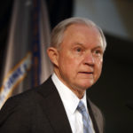 Attorney General Jeff Sessions speaks about crime to local, state and federal law enforcement officials Friday, March 31, 2017, in St. Louis. (AP Photo/Jeff Roberson)