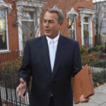FILE - In this Jan. 5, 2011, file photo, U.S. Rep. John Boehner, R-Ohio, who was elected House Speaker later that day during the 112th Congress, walks out of his home on Capitol Hill in Washington. The prominent Washington-based law and lobbying firm Squire Patton Boggs said Tuesday, Sept. 20, 2016, that former House Speaker John Boehner is joining the international firm as a strategic adviser to clients, focusing on global business development, but won't be a lobbyist. (AP Photo/Alex Brandon, File)