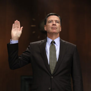 "FBI Director James Comey testifies on Capitol Hill in Washington, Wednesday, May 3, 2017, before the Senate Judiciary Committee hearing: ""Oversight of the Federal Bureau of Investigation."" (AP Photo/Carolyn Kaster)"