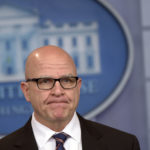 "National Security Adviser H.R. McMaster speaks during a briefing at the White House in Washington, Tuesday, May 16, 2017. President Donald Trump claimed the authority to share ""facts pertaining to terrorism"" and airline safety with Russia, saying in a pair of tweets he has ""an absolute right"" as president to do so. (AP Photo/Susan Walsh)"