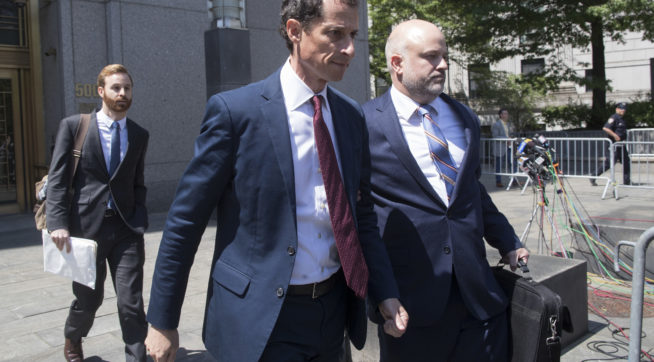 photo image Weiner Cries In Court As He Apologizes To 15-Year-Old Girl He Sexted