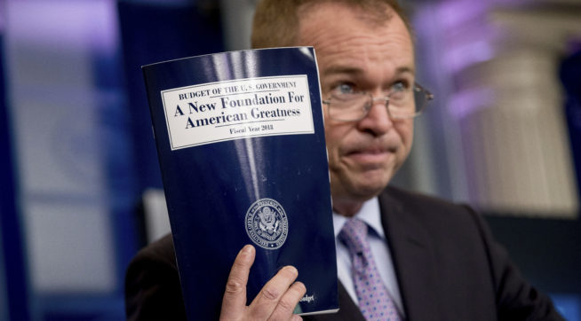 Trump's budget slashes Medicaid, foodstamp programmes