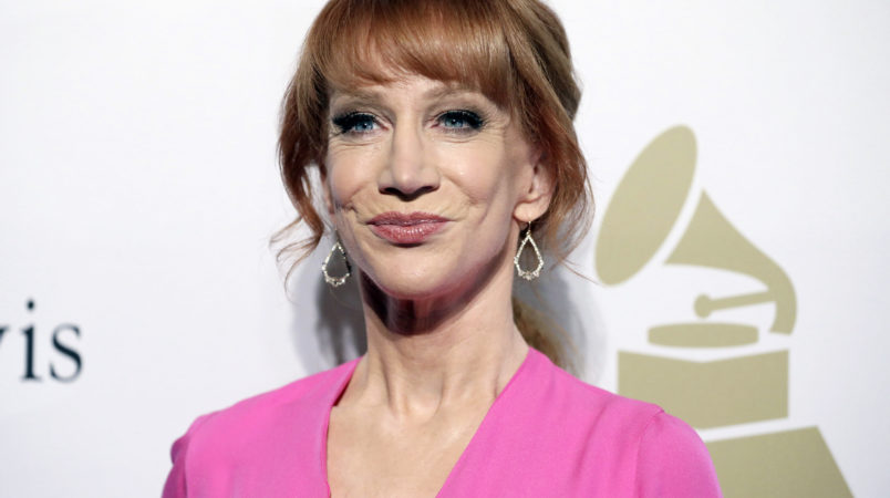 Kathy Griffin attends the Clive Davis and The Recording Academy Pre-Grammy Gala at The Beverly Hilton Hotel on Saturday, Feb. 11, 2017, in Beverly Hills, Calif. (Photo by Rich Fury/Invision/AP)