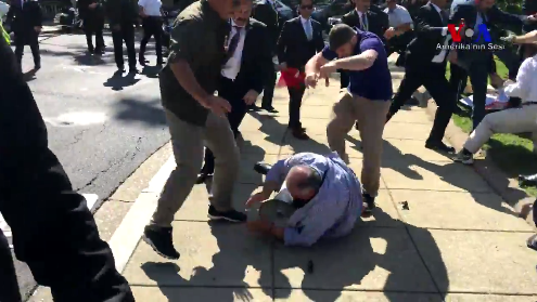 US State Department summons Turkish ambassador over violence outside Turkish mission