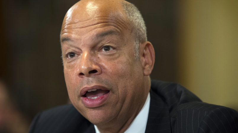 """Homeland Security Secretary Jeh Johnson testifies on Capitol Hill in Washington, Thursday, July 14, 2016, before the House Homeland Security hearing on """"Worldwide Threats to the Homeland: ISIS and the New Wave of Terror.""""  (AP Photo/Evan Vucci)"""