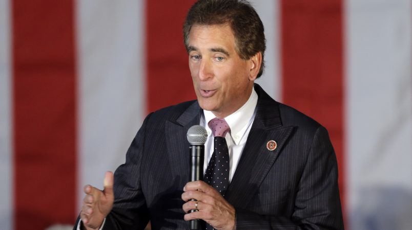 FILE – In this Sept. 29, 2014, file photo, U.S. Rep. Jim Renacci, R-Ohio, speaks at a GOP Get Out the Vote rally in Independence, Ohio. Renacci, who entered the 2018 Ohio governor's race Monday, March 20, 2017, has served in Congress since 2011 and is a longtime entrepreneur from the northeast Ohio city of Wadsworth. (AP Photo/Mark Duncan, File)