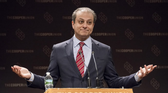 Bharara `Absolutely' Sees Enough Evidence for Case Against Trump