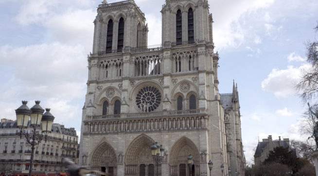 The Cathedral of Notre-Dame de Paris is the most visited monument in Paris. It is a masterpiece of Gothic architecture built in the middle age.( The Yomiuri Shimbun via AP Images )