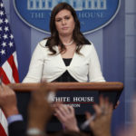 Deputy White House press secretary Sarah Huckabee Sanders speaks during the daily press briefing, Thursday, May 11, 2017, in Washington. (AP Photo/Evan Vucci)