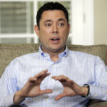 FILE - In this May 18, 2017 file photo, U.S. Rep. Jason Chaffetz speaks with reporters at his home in Alpine, Utah. Chaffetz set up a new company in April, just a day before announcing he wouldn't run for re-election. Chaffetz, a five-term Republican, says he doesn't feel compelled to talk about what he may do after leaving Congress next month. But he told The Associated Press on Tuesday May 23, 2017 that the business, Strawberry C, may become a reincarnation of his former public relations and marketing firm. (AP Photo/Rick Bowmer)