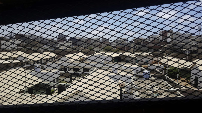 In this May 9 2017 photo, Aden Central Prison known as Mansoura where hundreds of terror suspects are held without trial after being rounded up by local Yemeni forces loyal to the United Arab Emiratis in Aden, the temporary capital of the internationally recognized government. The Emiratis is holding a wing of this main prison along with government complexes and military bases, secret jails hidden in a former nightclub and in the basements of villas in the mountains overlooking the city of Aden. Former detainees report brutal torture, and families search desperately for loved ones who have disappeared. Some have been flown to an Emirati base in the nearby Horn of Africa.(AP Photo/Maad El Zikry)