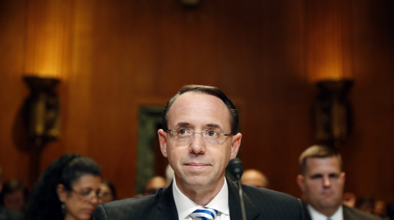 Rod Rosenstein: Justice Department is 'not going to be extorted'