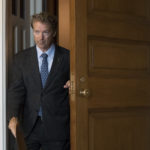 Sen. Rand Paul, R-Ky., leaves a closed-door meeting where Senate Majority Leader Mitch McConnell, R-Ky., announced the release of the Republican healthcare bill, the party's long-awaited attempt to scuttle much of President Barack Obama's Affordable Care Act, at the Capitol in Washington, Thursday, June 22, 2017.  (AP Photo/J. Scott Applewhite)