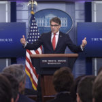 Energy Secretary Rick Perry speak during the  daily briefing at the White House in Washington, Tuesday, June 27, 2017. (AP Photo/Susan Walsh)