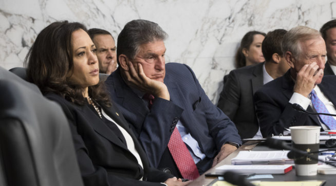 Senators try to quiet Kamala Harris, but she doesn't back down