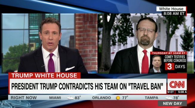 CNN's Cuomo Calls Trump Aide Gorka 'Purveyor of Spin'