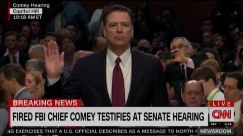 Image result for COMEY TAKES OATH