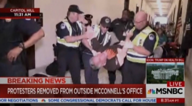 Disability Rights Activists Arrested in Health Care Protest Return