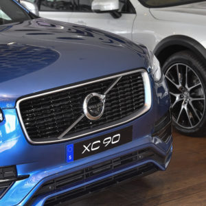 A Volvo XC 90 is seen at Volvo Cars Showroom in Stockholm, Sweden, on July 05, 2017, during a TT News Acency intreview with CEO Hakan Samuelsson. Samuelsson said that all Volvo cars will be electric or hybrid within two years. The Chinese-owned automotive group plans to phase out the conventional car engine.Foto: Jonas Ekströmer / TT / kod 10030