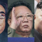In this combination of file photos, North Korean leaders from past to present, from left to right: Kim Il Sung in 1980; Kim Jong Il in 2010; and Kim Jong Un in 2017; in Pyongyang, North Korea. For nearly 70 years, the three generations of the Kim family have run North Korea with an absolute rule that tolerates no dissent. The ruling family has devoted much of the country's scarce resources to its military but has constantly feared Washington is intent on destroying the authoritarian government. (Korean Central News Agency/Korea News Service via AP, AP Photo/Vincent Yu, Wong Maye-E, Files)