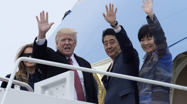 Trump's claim Abe's wife can not speak English generates buzz